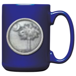 South Carolina Palmetto Cobalt Coffee Cup