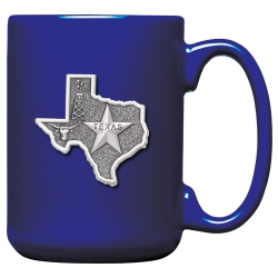 Texas Cobalt Coffee Cup
