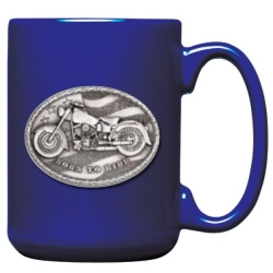 Motorcycle Cobalt Coffee Cup