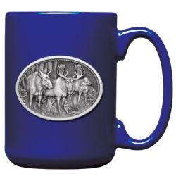 Moose Cobalt Coffee Cup #2
