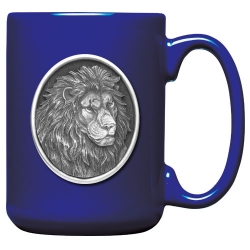Lion Cobalt Coffee Cup