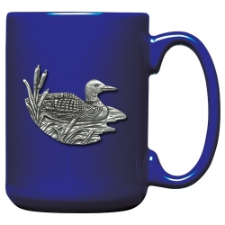 Loon Cobalt Coffee Cup