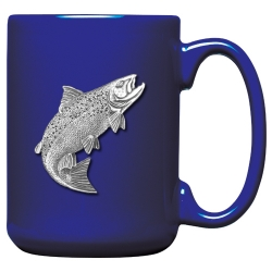 Salmon Cobalt Coffee Cup