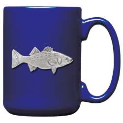 Striped Bass Cobalt Coffee Cup