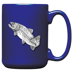 Trout Cobalt Coffee Cup