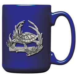 Turtle Cobalt Coffee Cup