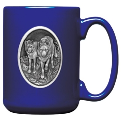 Wolves Cobalt Coffee Cup
