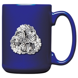 Grapes Cobalt Coffee Cup