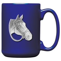 Horse Cobalt Coffee Cup