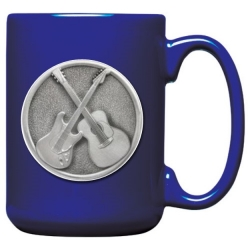 Guitar Cobalt Coffee Cup