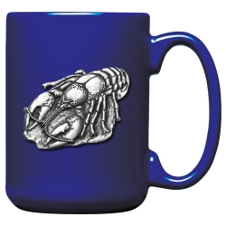 Crawfish Cobalt Coffee Cup