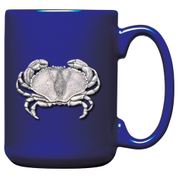 Sand Crab Cobalt Coffee Cup