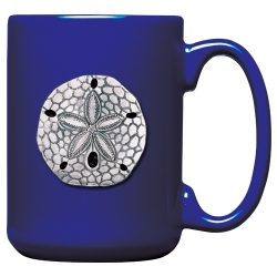 Sand Dollar Cobalt Coffee Cup