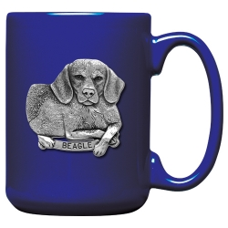 Beagle Cobalt Coffee Cup