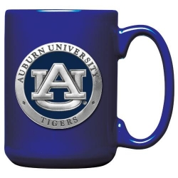 Auburn University Cobalt Coffee Cup - Enameled
