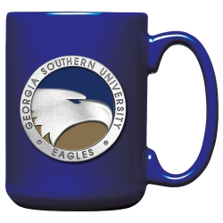 Georgia Southern University White Coffee Cup - Enameled