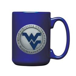 West Virginia University Cobalt Coffee Cup - Enameled