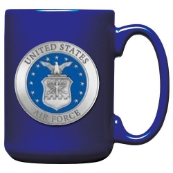 Air Force Cobalt Coffee Cup - Enameled