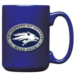 University of Nevada Cobalt Coffee Cup - Enameled
