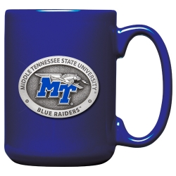 Middle Tennessee State University Cobalt Coffee Cup - Enameled