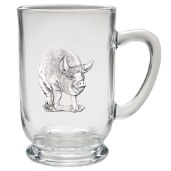 Pig Clear Coffee Cup