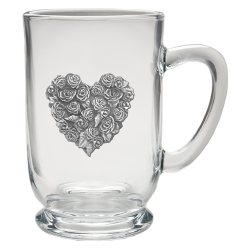 Rose Clear Coffee Cup