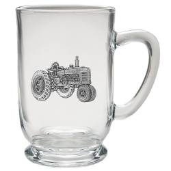 Tractor Clear Coffee Cup