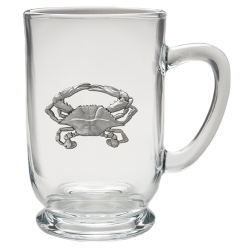 Blue Crab Clear Coffee Cup