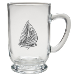 Sail Boat Clear Coffee Cup