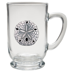 Sand Dollar Clear Coffee Cup