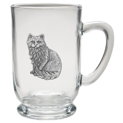 Cat Sitting Clear Coffee Cup