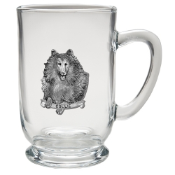 Collie Clear Coffee Cup