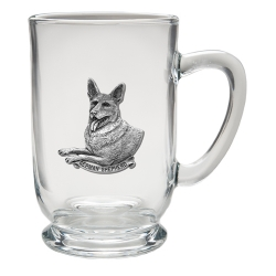 German Shepherd Clear Coffee Cup
