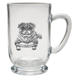 Pug Clear Coffee Cup