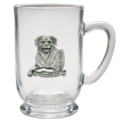 Rottweiler Clear Coffee Cup