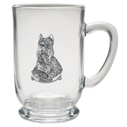 Schnauzer Clear Coffee Cup