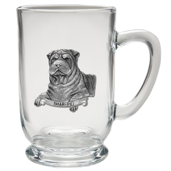Shar-Pei Clear Coffee Cup