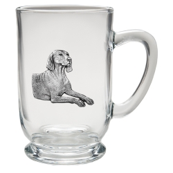 Weimaraner Clear Coffee Cup