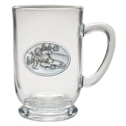Skier Clear Coffee Cup