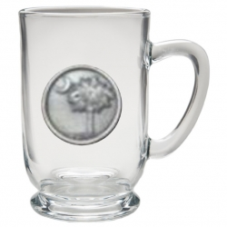 South Carolina Palmetto Clear Coffee Cup