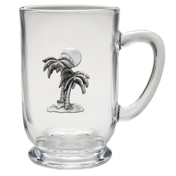 Palm Tree Clear Coffee Cup