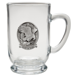 "Bald Eagle ""United We Stand"" Clear Coffee Cup"