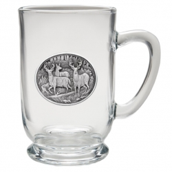 Whitetail Deer Clear Coffee Cup #2