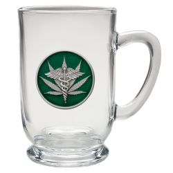Marijuana #2 Clear Coffee Cup - Enameled