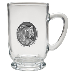Grizzly Bear Clear Coffee Cup