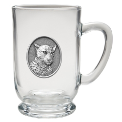 Leopard Clear Coffee Cup