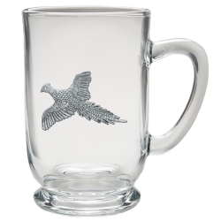 "Pheasant ""Flight"" Clear Coffee Cup"