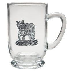 Tiger Clear Coffee Cup