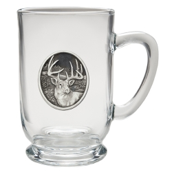 Whitetail Deer Clear Coffee Cup