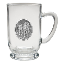 Wolves Clear Coffee Cup
